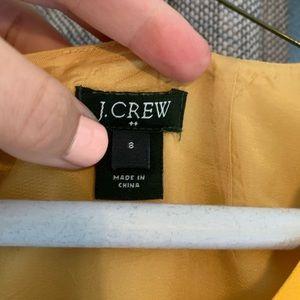 Yellow Patterned Dress J crew size 8